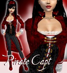 Pirate Capt. Red/Black